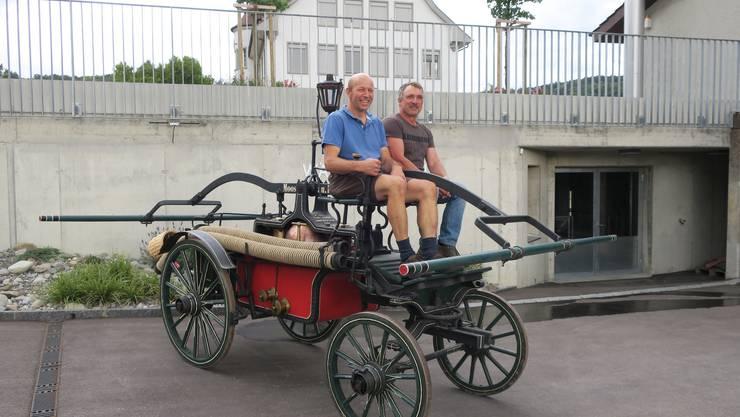 Die Füürwehroldies Leerau (ehemalige Feuerwehrleute) restaurieren ausgediente Feuerwehrgegenstände. Aus dem ehemaligen Spritzenhaus wird bald ein Museum.