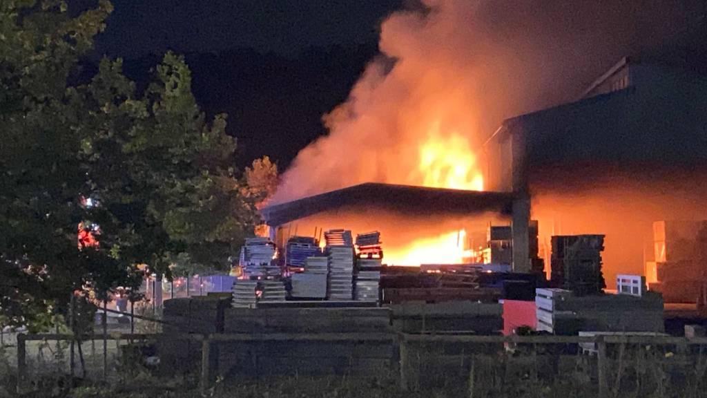 Lagerhalle in Laufenburg: Brandursache geklärt