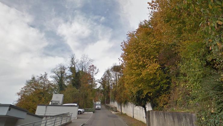 Die Hertensteinstrasse in Ennetbaden ist eng. (Archiv)