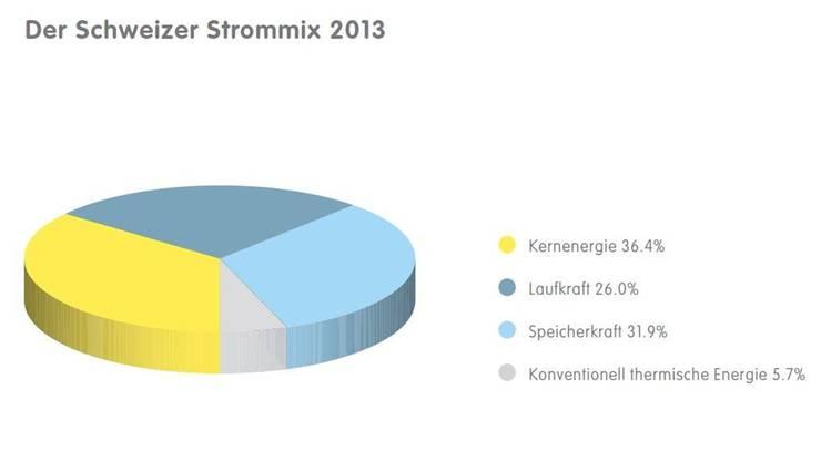 Der Schweizer Strommix 2013