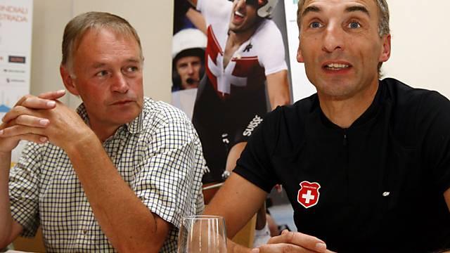 Swiss-Cycling-Präsident Melchior Ehrler (links) tritt bald zurück