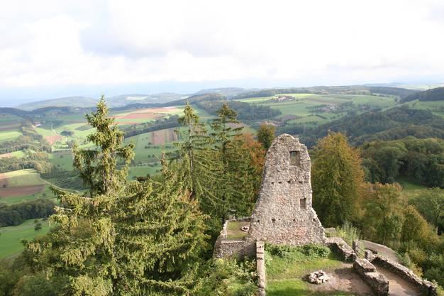 Aussicht von der Ruine Farnsburg