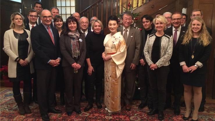 Der neuste Zuwachs: Die parlamentarische Gruppe Schweiz-Japan mit Gästen.