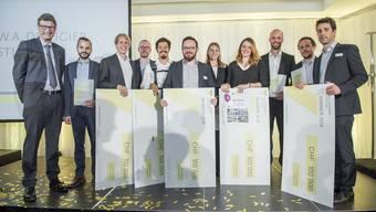 Die Jungunternehmer, die von der W.A. de Vigier Stiftung 2018 ausgezeichnet wurden.