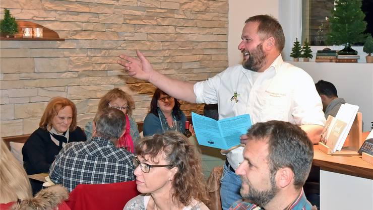 Wetterschmöcker Roman Ulrich war Gast im Café Grogg.
