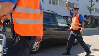 Polizeikontrolle. (Symbolbild)
