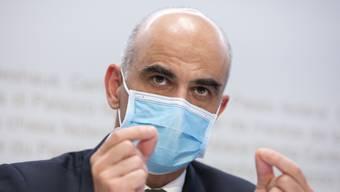 Gesundheitsminister Alain Berset ist wortgewandt – trotz kleinem Sprachfehler.