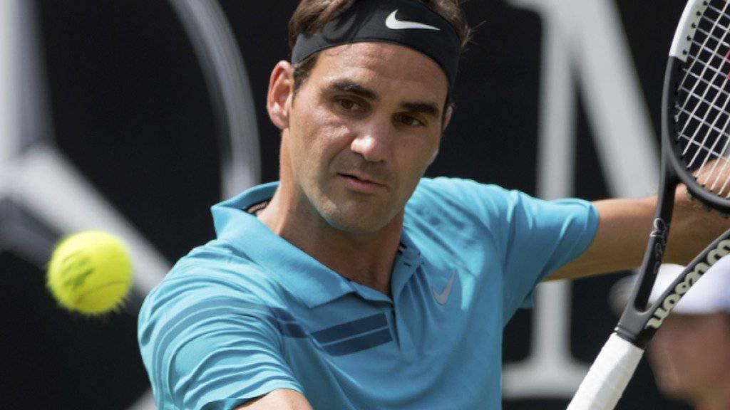 Roger Federer bleibt in Stuttgart auf Kurs