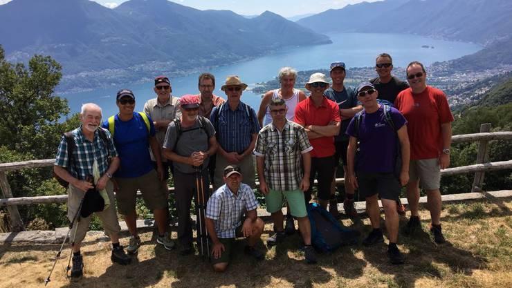 Das A-Kader hoch über dem Lago Maggiore