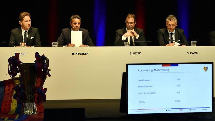 726 Stimmen sind zu wenig. Jean-Paul Brigger wird nicht gewählt. Lange Gesichter beim bisherigen Vorstand.