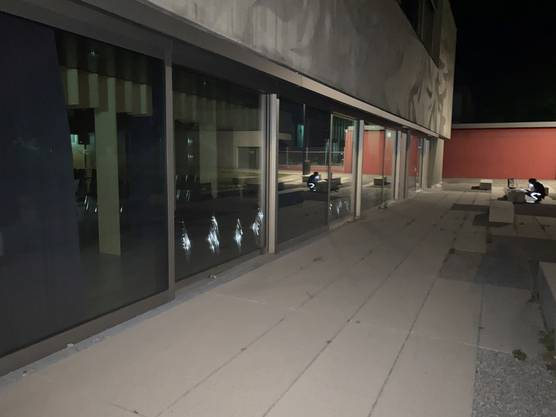 In der Nacht warfen Unbekannte gezielt Steine gegen die Scheiben eines Schulhauses in Neuenhof.