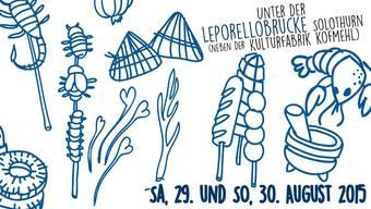 Hiermit werben die Organisatoren des 1. Streetfood Festivals Solothurn.