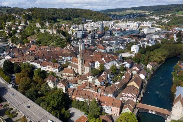 Ortsbild mit Auszeichnung: Die Stadt Baden erhält den Wakkerpreis 2020 des Schweizer Heimatschutzes verliehen.