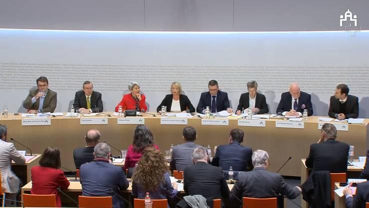 Die öffentliche Anhörung zum EU-Rahmenabkommen.