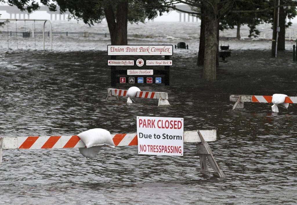 Der Union Point Park in New Bern ist überflutet.