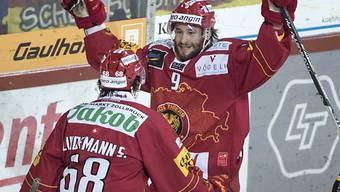 Langnauer Jubel bei Sven Lindemann (l.) und Haas.