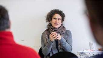 Leitete die philosophische Gesprächsrunde: Kunsthistorikerin Katja Herlach.