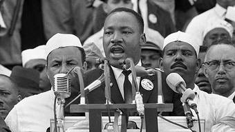 Martin Luther King bei seiner Rede 1963