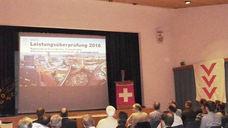Regierungsrat Ernst Stocker erklärt die umstrittene Leistungsüberprüfung 2016 des Kantons Zürich
