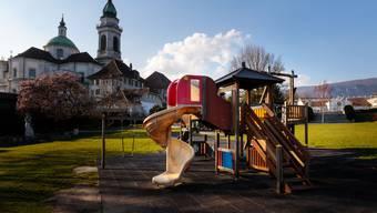 Der Spielplatz auf der Chantierwiese ist beliebt. (Archiv)