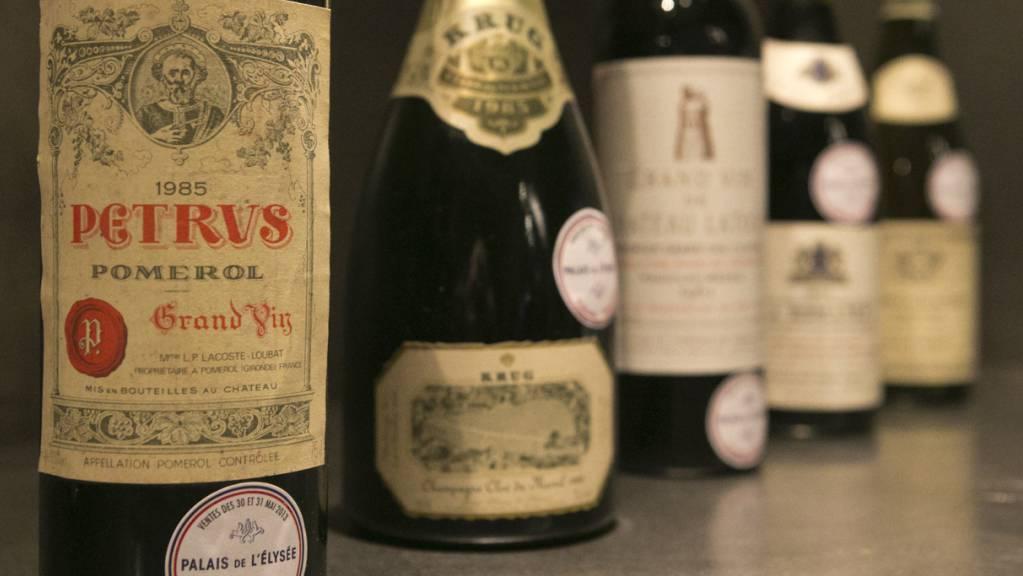 Für knapp eine Million Franken versteigert das Auktionshaus Christie's einen Petrus-Wein, der in der Internationalen Raumstation ISS gelagert worden ist. (Archivbild)