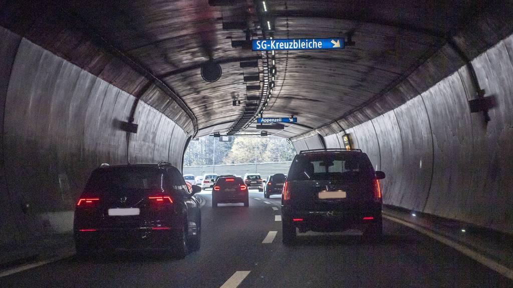 Wegen Arbeiten bleibt die St.Galler Stadtautobahn jeweils ab 20 Uhr geschlossen. (Archivbild)