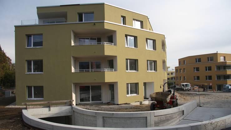 Die neuen Blöcke der Helvetia Versicherungen im Mühlegut befinden sich im Endausbau – ab Februar sind hier 79 Wohnungen bezugsbereit.