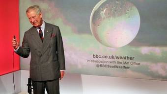 Prinz Charles präsentiert für die Briten das Wetter