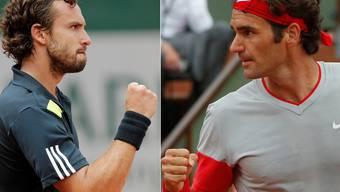 Könnte eine harte Nuss werden für Roger Federer: Ernest Gulbis (links).