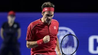 Roger Federer triumphiert erneut in Basel.