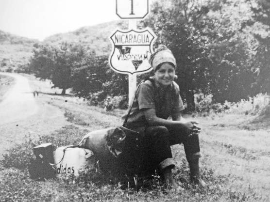 Heidi Widmer auf ihrer Südamerikareise 1969–1971.