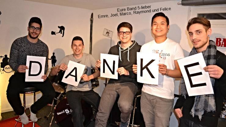 «5 Lieber» sagt Danke