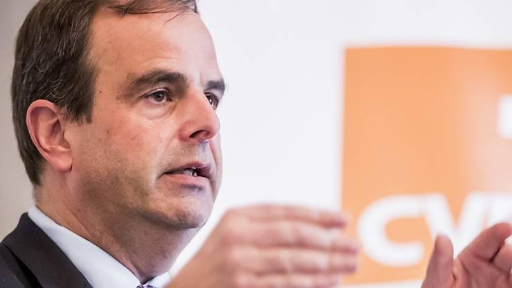 Für ihn hat ein Rahmenabkommen mit der EU nur Chancen, wenn darin die direkte Demokratie der Schweiz berücksichtigt wird: CVP-Präsident Gerhard Pfister (NR/ZG). (Archivbild)