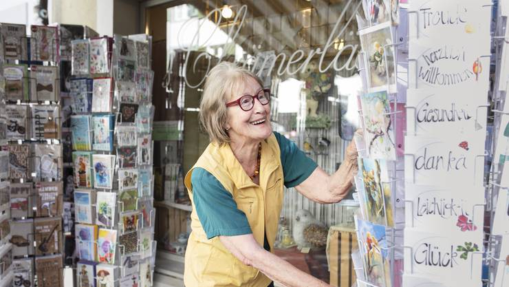 Für Irene Schmid (79) ist der Moment des Abschieds von ihrem Lädeli gekommen.