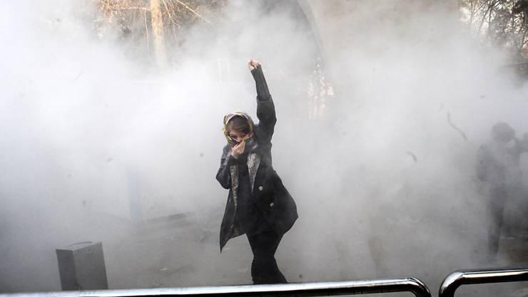 Proteste über die iranische Hauptstadt Teheran hinaus: Am Sonntagabend starben im Südwesten des Landes zwei Demonstrationen. Sie wurden erschossen. (Archivbild)