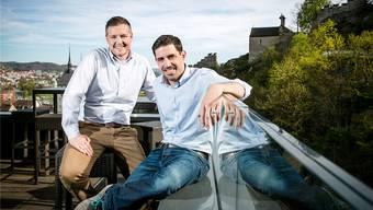Sie geben dem «Torre» ab Anfang Mai als Pächter ein neues Gesicht: Die beiden Gastronomen Peter Albiez (l.) und Tobias Koller. Sandra Ardizzone