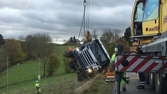 Unfall Milchtransporter in Villmergen