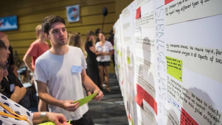450 junge Aktivisten aus 38 Ländern nahmen am Klimagipfel in Lausanne teil. Zum Abschluss einigten sie sich auf drei Kernforderungen.