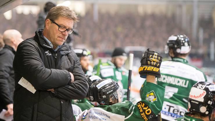 Steht heute nicht mehr an der Bande des EHC Olten: Headcoach Heikki Leime.