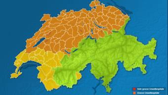 SRF Meteo warnt im Aargau vor einer grossen Unwettergefahr am Montagabend.