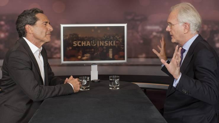 Zwei TV-Tiere im Gehege: Schawinski (l.) und Schmidt.