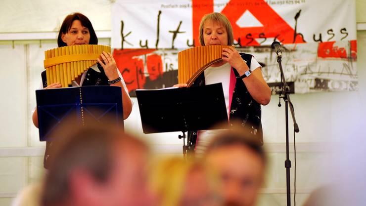 Panflötenkonzert am Kulturtag 2012 zum 40-Jahr-Jubiläum des Kulturausschusses Gerlafingen.