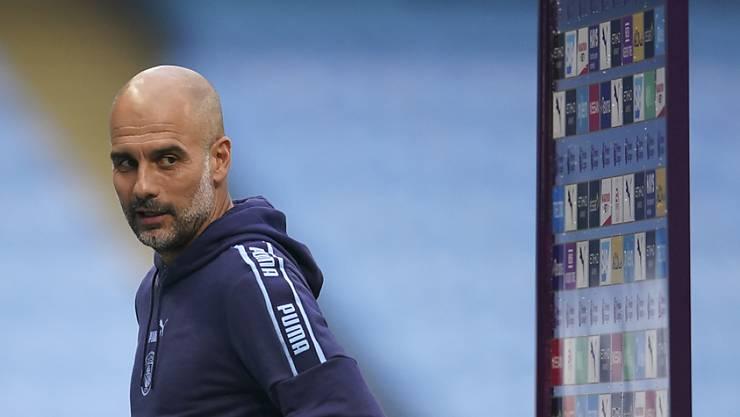 Manchester Citys Trainer Pep Guardiola erteilte eine klare Anti-Rassismus-Botschaft
