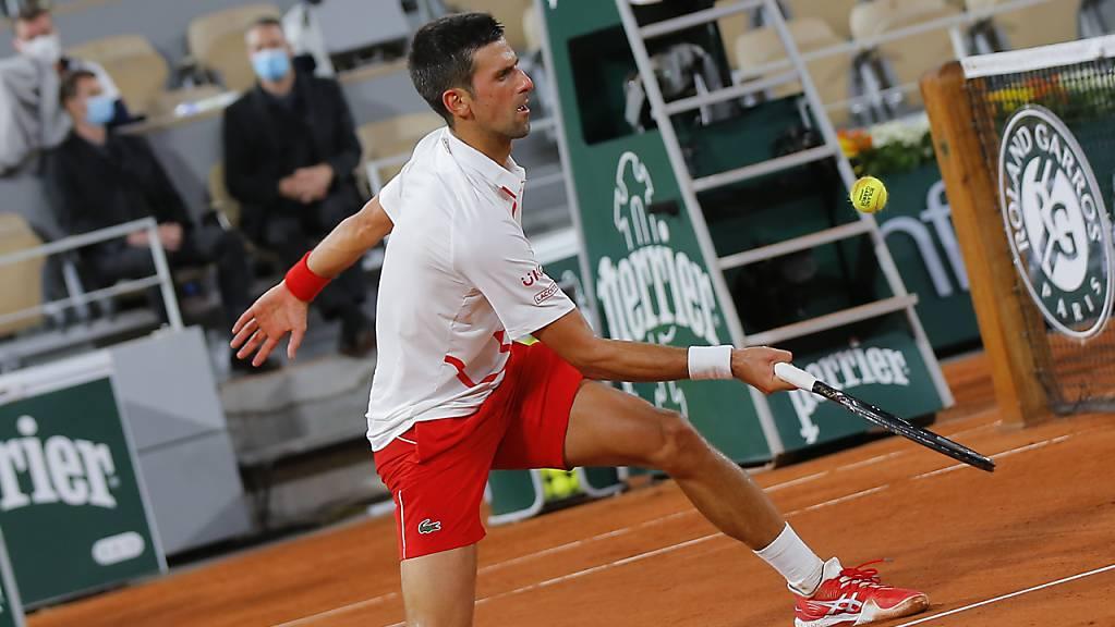 Nicht aus der Balance geraten: Novak Djokovic bei seinem Einstieg ins diesjährige French Open