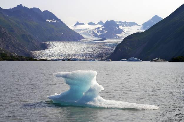 Grewingk See und Gletscher bei Homer, Alaska