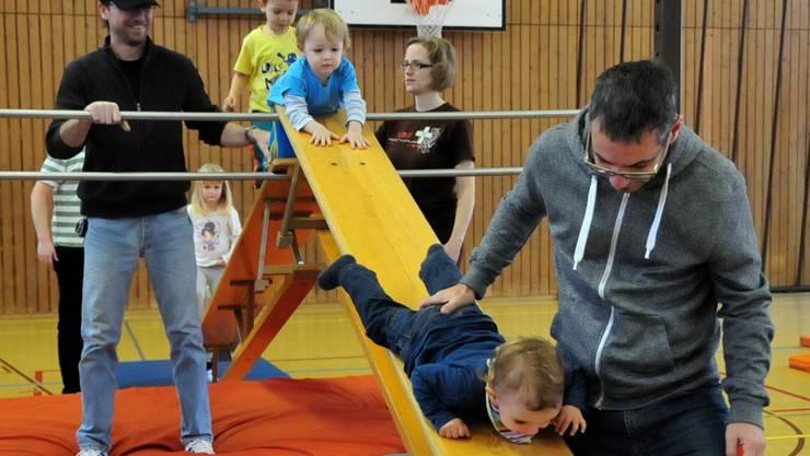 Die Kleinen können sich in der Halle nach Herzenslust austoben.