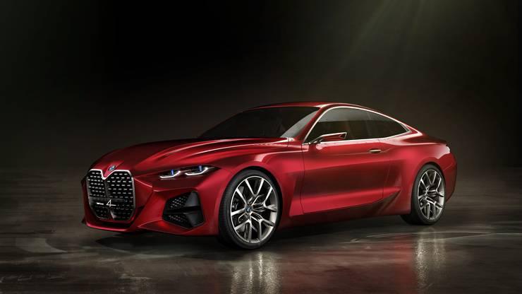 Das Concept 4 von BMW ist ein erster Ausblick auf das neue 4er Coupé. Bild: zvg