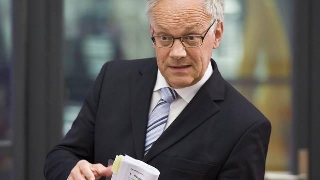 Bundesrat Schneider-Ammann spricht in Luzern über die Medien (Archiv)