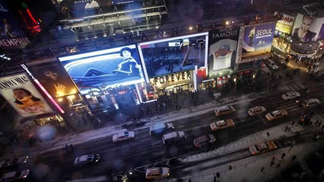 Blick auf den New Yorker Times Square (Bild vom Sonntag)