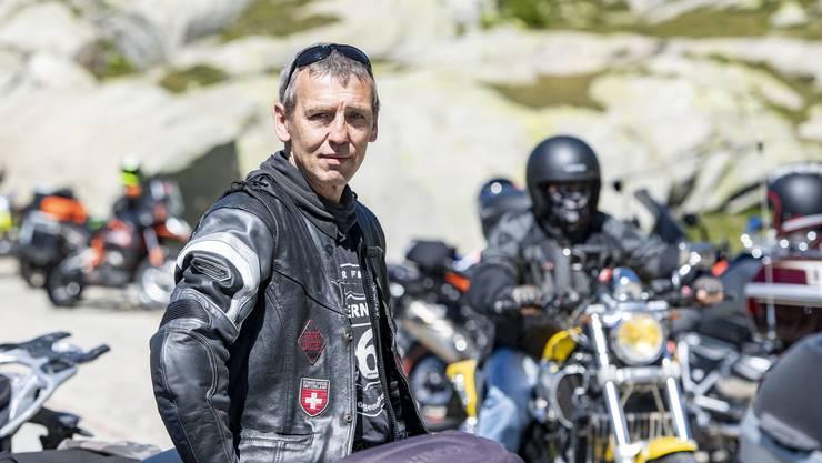 Bernd Hanisch, Präsident der Motorradgemeinschaft Fighter Friends.